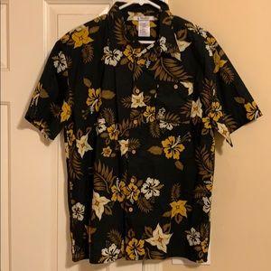 Disney short sleeved button down shirt